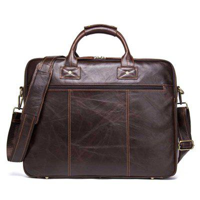 Contacts MB093 Leather Men Crossbody Bag Business Briefcase