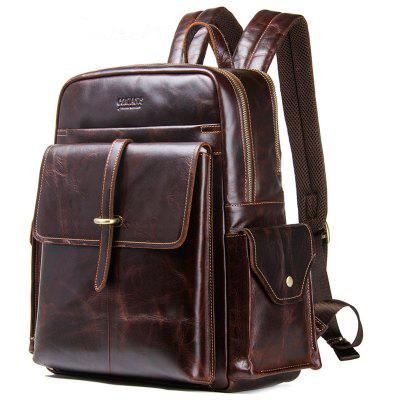Contact'S MB099  Crazy Horse Leather Men Backpack