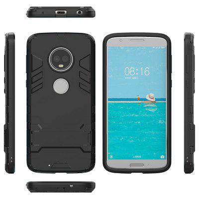 Armor All-in-one with Bracket Three-in-one Shatter-resistant Protective Shell Mobile Phone Case for Motorola MOTO G6