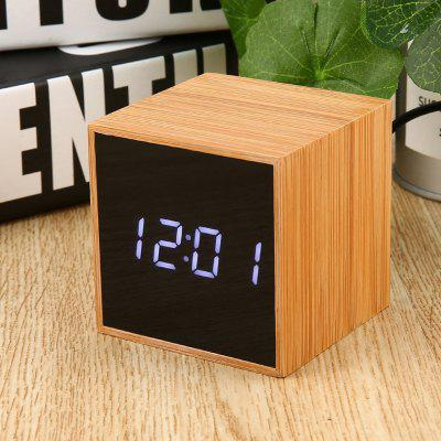 TS - M01 - W Multifunctional Voice Control Digital Alarm Clock White Light