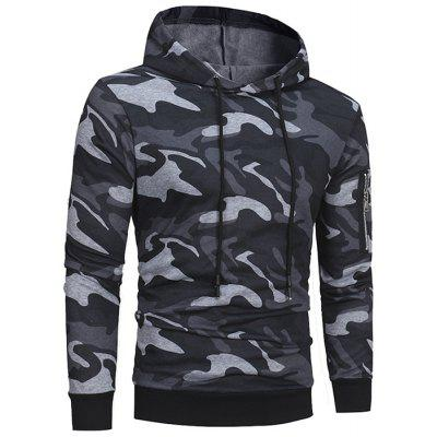 Autumn and Winter New Classic Camouflage Casual Men's Hooded Pullover Sweater