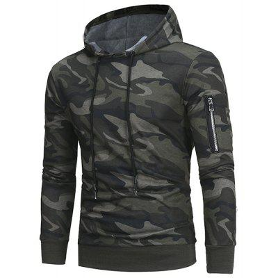 Men's Fashion Camouflage Sweater Casual Slim Hooded Hoodie