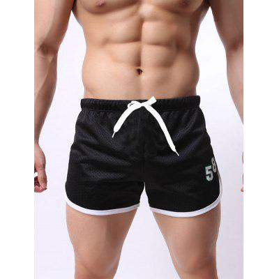 Men Mesh Breathable Quick-drying Beach Pants Double-layer Lace Sports Fitness Running Shorts