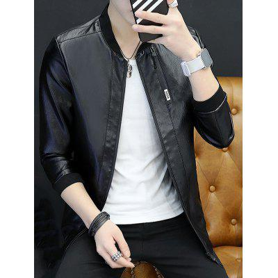 Leather Clothes Jacket Long-sleeved Men Jacket Boys Spring And Autumn Youth Handsome  Autumn Clothes