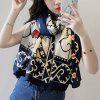 Scarf Female Print Paris Gauze Shawl Seaside Tourism Holiday Sunscreen Scarf - MULTI-A