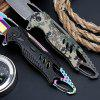 Tactical High Hardness Folding Knife Field Survival Multi-function Hunting Knife Self-defense Outdoor Folding Knife - BLACK