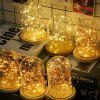 10M 100LED 3 x AA Battery Box Copper Wire String Christmas Decoration String - BLONDE