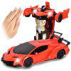 Gesture Sensing Remote Control Robot One Button Transformation Car Toy - OCEAN BLUE