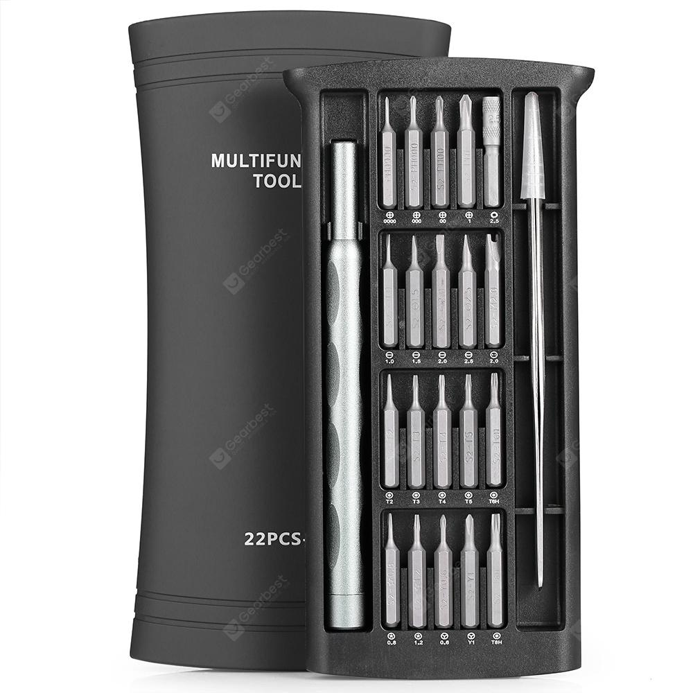 22 Gummy sa 1 Magnetic Screwdriver Bits Set - SILVER