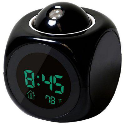 LED Colorful Projection Alarm Voice Report Projection Clock