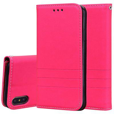 Hat-Prince Fashion Fit PU Leather TPU Card Slot Bracket Phone Case for iPhone X / XS