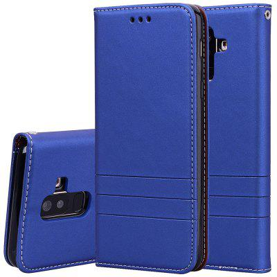 Hat-Prince Fashion Fit PU Leather TPU Card Slot Bracket Function Phone Case for Samsung Galaxy A6+