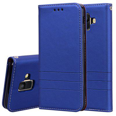 Hat-Prince PU Leather TPU Card Slot Bracket Function Phone Case for Samsung Galaxy A6