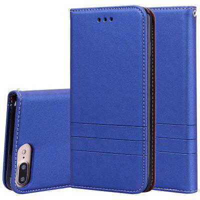 Chapeau Prince Fashion Leather Case + TPU Téléphone avec fonction de support de fente pour carte pour iPhone 7 Plus / iPhone 8 Plus
