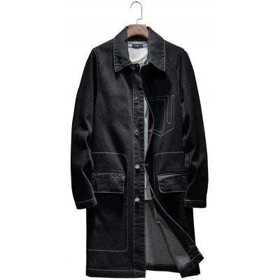 Loose Fashion Casual Denim Trench Coat