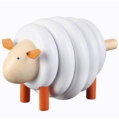 Wooden Sheep Assembling Game Early Education Educational Toys Building Blocks