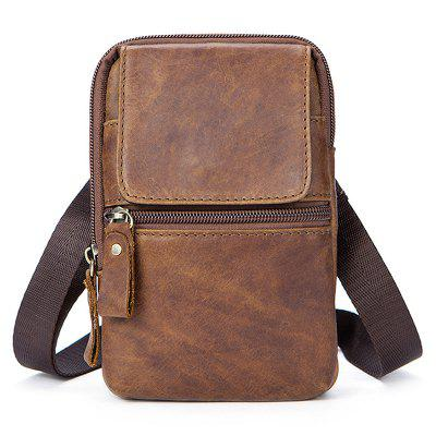5ec7db15bc3a Men s Leather Crossbody Bag Shoulder Bag Retro First Layer Cowhide Leather  Belt Bag