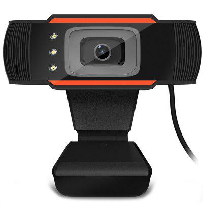 Webcam de USB Video Micrófono Absorbente de Sonido Incorporado de Cámara HD de 3 LED