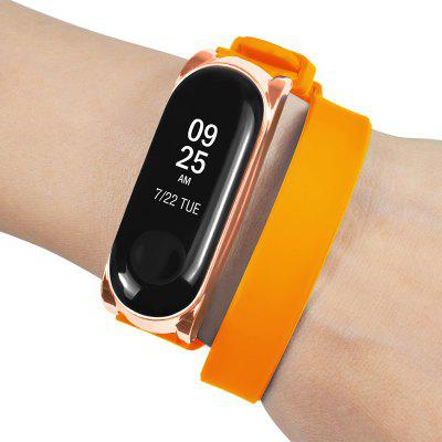 Buckle Metal Shell Watchband Strap for Xiaomi Mi Band 3