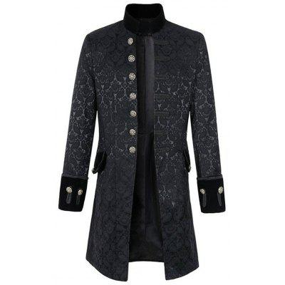 Men Leisure Trench Comfortable Long Classic Button