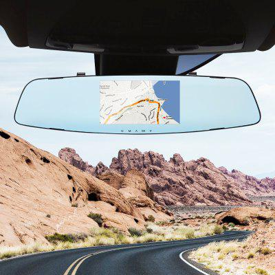 Gocomma A2 4.3 inch HD DVR Rearview Mirrors Driving Car Recorder