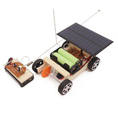 Solar Powered Wireless Remote Control DIY Technology Car Toy Set