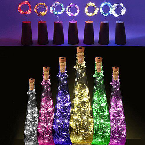Cork Shaped Wine Bottle Stopper String Lights 2 Meters 20 Leds Silver Copper Wire Diy Christmas Halloween Wedding Party Crafts Pure White And Translucent Lights & Lighting Led Lamps