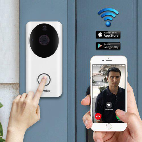 Alfawise L9 Wireless Intelligent WiFi Video Doorbell WHITE