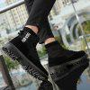 Men Leisure High-top Boots Wearable Lace-up - BLACK