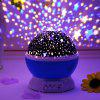 Creative USB Charging Romantic Fantasy Star Rotating Projection Night Light Music Colorful Table Lamp - PINK ROSE