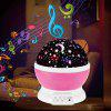 Creative USB Charging Romantic Fantasy Star Rotating Projection Night Light Music Colorful Table Lamp - PURPLE MIMOSA