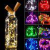 Festival Party LED Wine Bottle Light String 1 Meter 10 Lights Christmas Home Bar Decoration Lights - CHAMPAGNE GOLD