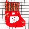 Christmas Socks Gift Bag Brushed Cloth Gold Socks Christmas Decorations Christmas Tree Pendant - RED