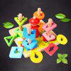 Geometric Shape Matching Toy Montessori Early Childhood Education Intellectual Baby Five Sets Of Column Blocks Cognitive Children 1 - 2 - 3 Years Old - MULTI