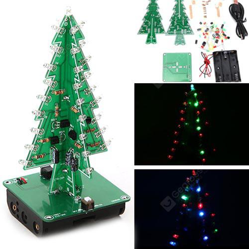 Albero di decorazioni natalizie Colorful LED Flash 3D Kit elettronico fai da te - CLOVER GREEN
