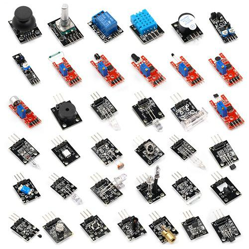 37 in One Commonly Used Sensor Kits for ARDUINO 37 - Black With Storage Box