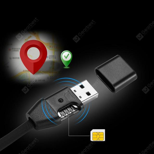 Intelligent Tracker Mini GPS Positioning USB Wire Fast Charging Data Cable 1M