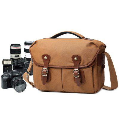 Waterproof Photography SLR Camera Vintage Casual Canvas Bag Male