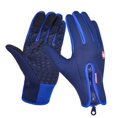 Outdoor Winter Riding Gloves Waterproof Fleece Warm Gloves Ski Mountaineering Gloves