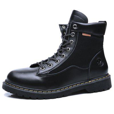 Leisure High-top Men Boots Wearable Lace-up