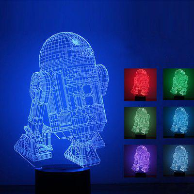 3D Stereo Round Bottom Touch Night Light Robot LED Colorful Gradient Table Lamp