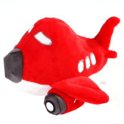 Cute Airplane Pet Dog Molars Sounding Toy
