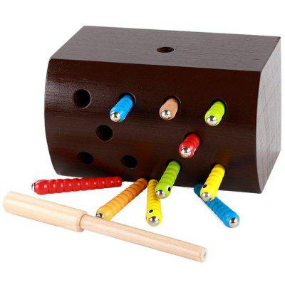 Baby Toy Catch Bugs Game Grasping Ability Educational Kids Toy Base Box Wood Stick Worm