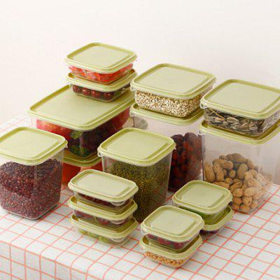 Food Storage Box Kitchen Finishing Storage Sealed Box 17PCS