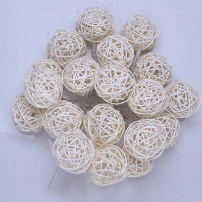 3 metry 30LED White Rattan Ball String Holiday Decoration Lights Christmas Lights String Cool White Battery