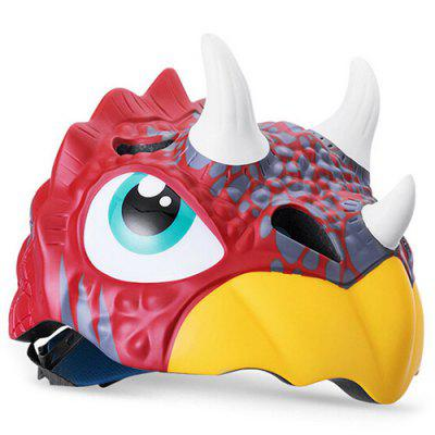 ROCKBROS Children Riding Helmet Child Wheel Slip Men And Women Children Baby Cartoon Half Helmet Bicycle Helmet Triceratops