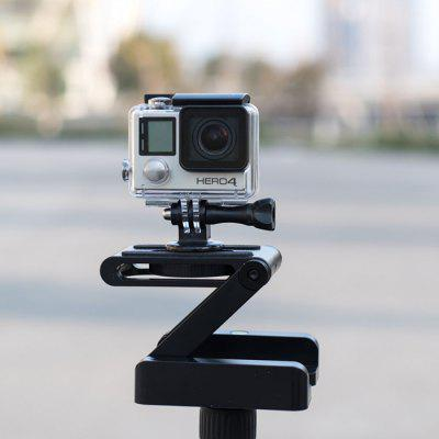 Folding Z Shape Camera Stand Holder Plate Gopro Desktop Tripod - BLACK