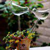 Transparent Glass Lazy Bird Watering Device - TRANSPARENT