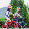 ROCKBROS Children Riding Helmet Child Wheel Slip Men And Women Children Baby Cartoon Half Helmet Bicycle Helmet Triceratops - RED