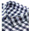90FUN Men Flannel Shirt from Xiaomi youpin - BLUE GRAY